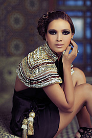 Aamina Sheikh model & actress. Photoshoot of model Aamina Sheikh demonstrating Face Modeling.Face Modeling Photo #122897