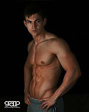 Abel Albonetti model. Abel Albonetti demonstrating Body Modeling, in a photoshoot by Gary Dunnam.Photographer: Gary DunnamBody Modeling Photo #102427