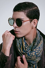 Adal Villegas model. Photoshoot of model Adal Villegas demonstrating Face Modeling.EyewearFace Modeling Photo #122787