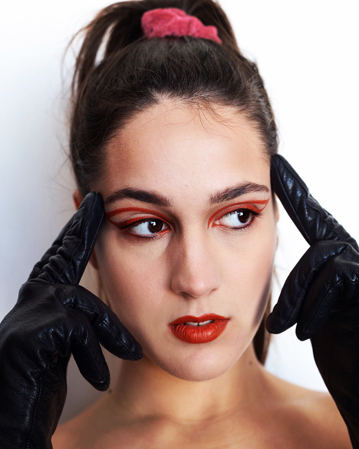 Aggeliki Tsianaka model (Αγγελική Τσιανάκα μοντέλο). Photoshoot of model Aggeliki Tsianaka demonstrating Face Modeling.Face Modeling Photo #219864