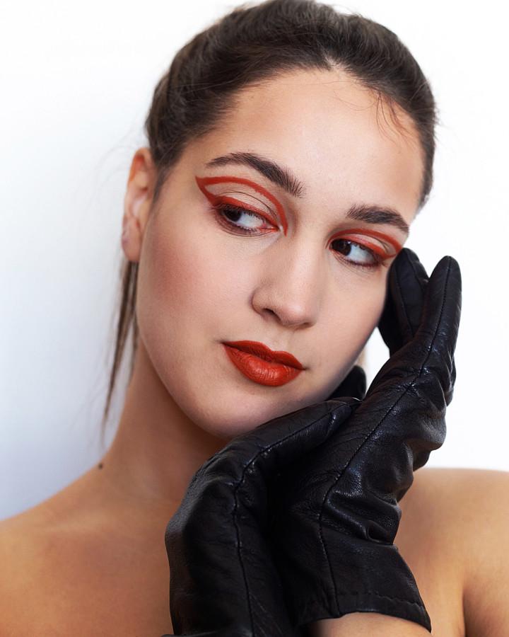 Aggeliki Tsianaka model (Αγγελική Τσιανάκα μοντέλο). Photoshoot of model Aggeliki Tsianaka demonstrating Face Modeling.Face Modeling Photo #219865