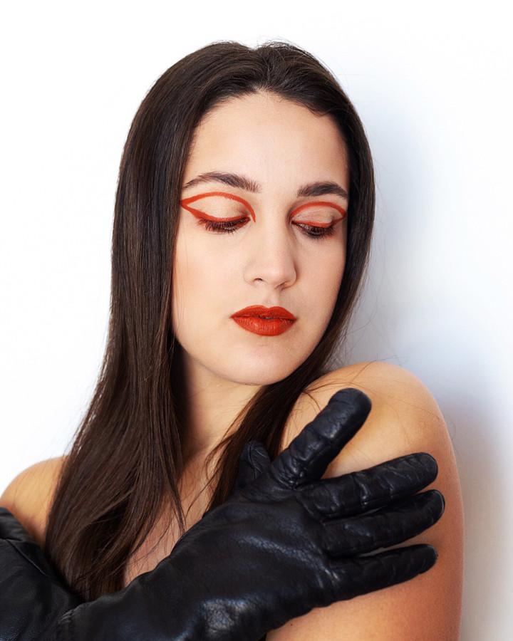 Aggeliki Tsianaka model (Αγγελική Τσιανάκα μοντέλο). Photoshoot of model Aggeliki Tsianaka demonstrating Face Modeling.Face Modeling Photo #219866