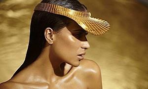 Akyria Ougos model (modelo). Photoshoot of model Akyria Ougos demonstrating Face Modeling.Face Modeling Photo #178283