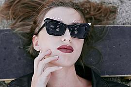 Albiona Kaza model (μοντέλο). Photoshoot of model Albiona Kaza demonstrating Face Modeling.Face Modeling Photo #159537