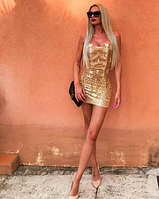 Alessandra Gengaro model. Photoshoot of model Alessandra Gengaro demonstrating Fashion Modeling.designer: IULIANA MIHAIMini DressFashion Modeling Photo #197933