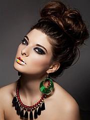 Alessandra Velia model (modèle). Alessandra Velia demonstrating Face Modeling, in a photoshoot by Olivier Mannheim.Photographer : Olivier MannheimMake up artist & hair : Sefedine AllaouaFace Modeling Photo #103433