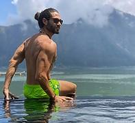 Alex Ghanem model. Photoshoot of model Alex Ghanem demonstrating Body Modeling.Body Modeling Photo #219041