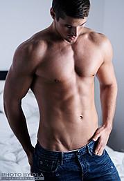 Alexander Lazarevic model. Photoshoot of model Alexander Lazarevic demonstrating Body Modeling.Body Modeling Photo #113404