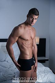 Alexander Lazarevic model. Photoshoot of model Alexander Lazarevic demonstrating Body Modeling.Body Modeling Photo #113405