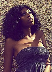 Alexis Hicks model. Photoshoot of model Alexis Hicks demonstrating Face Modeling.Face Modeling Photo #102498