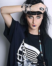Alice Pagani model & actress. Photoshoot of model Alice Pagani demonstrating Face Modeling.Bracelet,RingFace Modeling Photo #171827