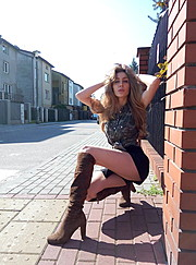 Alina Marynych model (modelka). Photoshoot of model Alina Marynych demonstrating Fashion Modeling.Fashion Modeling Photo #180532