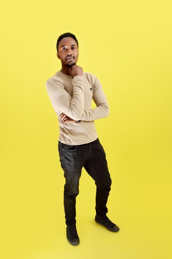 Amos Muta model. Photoshoot of model Amos Muta demonstrating Fashion Modeling.Urbanstudio photographyFashion Modeling Photo #201723