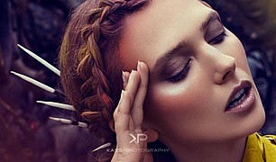 Ana Kuni model & artist. Photoshoot of model Ana Kuni demonstrating Face Modeling.Face Modeling Photo #145102