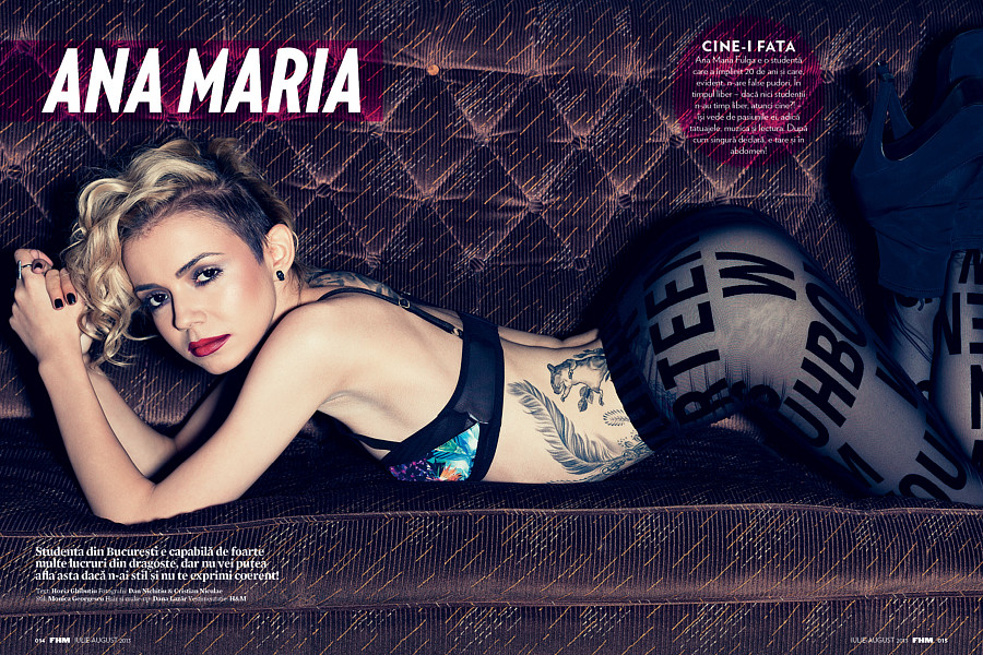 Ana Maria Fulga model. Photoshoot of model Ana Maria Fulga demonstrating Editorial Modeling.Photo - Dan Nichitiu & Cristian Niculae  MUA & Hair - Dana VladTear SheetEditorial Modeling Photo #204194