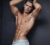 Andrea Moscon model (modello). Photoshoot of model Andrea Moscon demonstrating Body Modeling.Body Modeling Photo #174790
