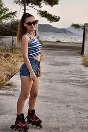 Angela Koumria model (μοντέλο). Photoshoot of model Angela Koumria demonstrating Fashion Modeling.Fashion Modeling Photo #215602