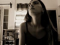 Angela Koumria model (μοντέλο). Photoshoot of model Angela Koumria demonstrating Face Modeling.Face Modeling Photo #215604