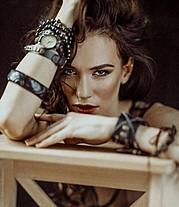 Anhen Bogomazova model (Анхен Богомазова модель). Anhen Bogomazova demonstrating Face Modeling, in a photoshoot by Natalia Melnikova.Face Modeling Photo #117723