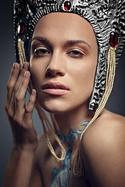 Anhen Bogomazova model (Анхен Богомазова модель). Photoshoot of model Anhen Bogomazova demonstrating Face Modeling.Face Modeling Photo #117731
