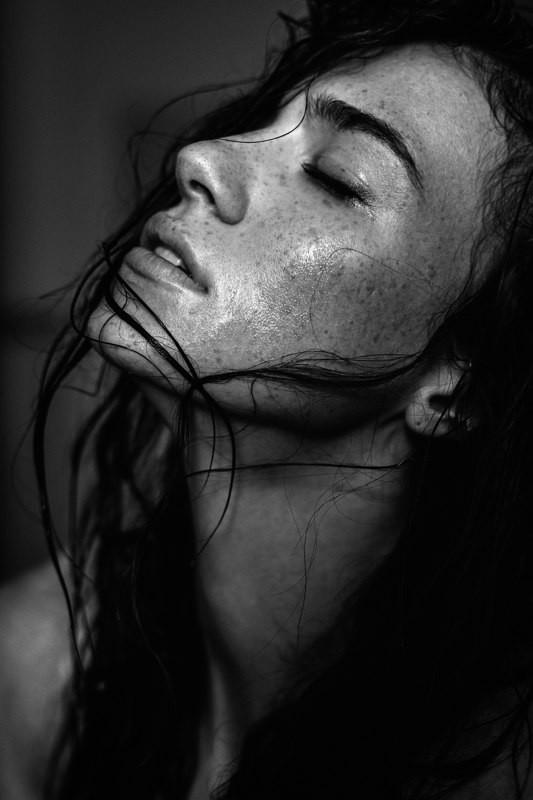Anhen Bogomazova model (Анхен Богомазова модель). Photoshoot of model Anhen Bogomazova demonstrating Face Modeling.Face Modeling Photo #117734