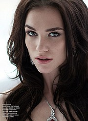 Anhen Bogomazova model (Анхен Богомазова модель). Photoshoot of model Anhen Bogomazova demonstrating Face Modeling.Face Modeling Photo #117751