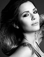 Aniko Vago model. Photoshoot of model Aniko Vago demonstrating Face Modeling.Face Modeling Photo #75689