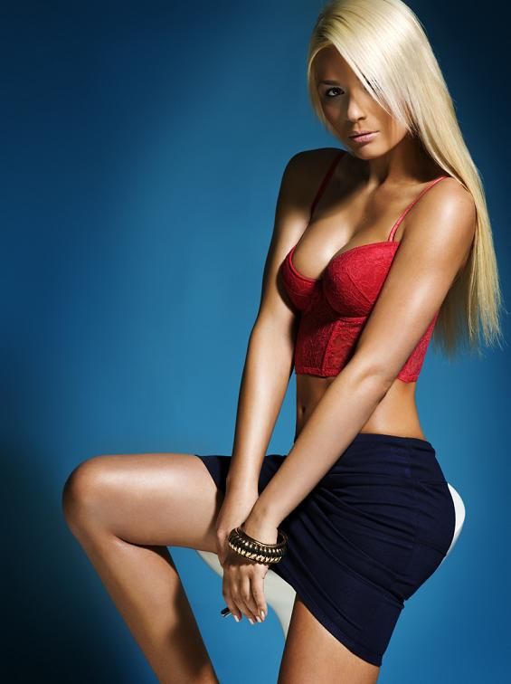 Aniko Vago model. Photoshoot of model Aniko Vago demonstrating Fashion Modeling.Mini Skirt With TopFashion Modeling Photo #75691