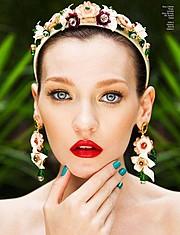Anna Fedorovna Albertin model & makeup artist. Photoshoot of model Anna Fedorovna Albertin demonstrating Face Modeling.Face Modeling Photo #164406
