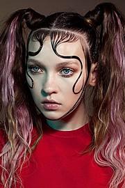 Anna Fedorovna Albertin model & makeup artist. Photoshoot of model Anna Fedorovna Albertin demonstrating Face Modeling.Face Modeling Photo #164416