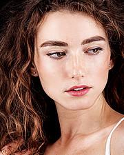 Anna Haholkina model (modella). Photoshoot of model Anna Haholkina demonstrating Face Modeling.Face Modeling Photo #221082