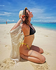Anna Haholkina model (modella). Photoshoot of model Anna Haholkina demonstrating Body Modeling.Body Modeling Photo #221085