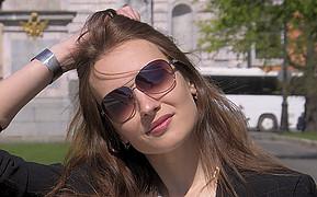 Anna Kokoshvili model. Photoshoot of model Anna Kokoshvili demonstrating Face Modeling.Face Modeling Photo #199570