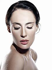 Anna Shteyn model (модель). Photoshoot of model Anna Shteyn demonstrating Face Modeling.Face Modeling Photo #69062