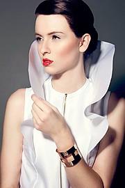 Anna Vega model. Photoshoot of model Anna Vega demonstrating Face Modeling.BraceletFace Modeling Photo #102755