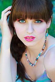 Anna Vega model. Photoshoot of model Anna Vega demonstrating Face Modeling.Face Modeling Photo #102758