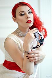 Annet Morgenstern model & makeup artist (модель & визажист). Photoshoot of model Annet Morgenstern demonstrating Face Modeling.Face Modeling Photo #78043