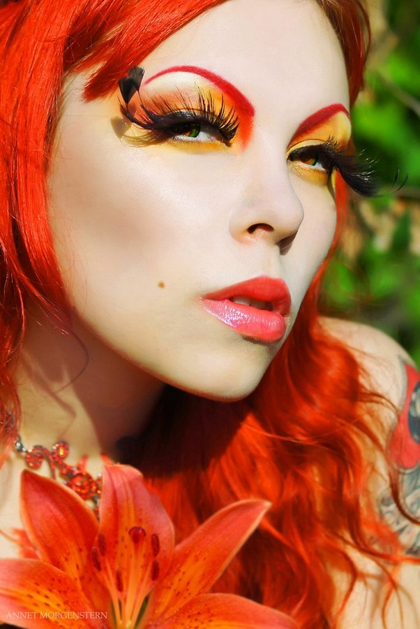 Annet Morgenstern model & makeup artist (модель & визажист). Photoshoot of model Annet Morgenstern demonstrating Face Modeling.Face Closeup,Eyelash ExtensionsFace Modeling Photo #78045