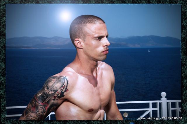 Antonis Fostieris model (μοντέλο). Photoshoot of model Antonis Fostieris demonstrating Face Modeling.Face Modeling Photo #115360