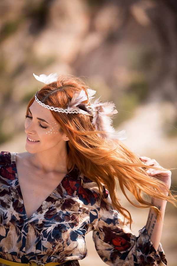 Aphrodite Kanni makeup artist & hair stylist (μακιγιέρ & κομμωτής). Work by makeup artist Aphrodite Kanni demonstrating Fashion Makeup.Boho hair & makeupFashion Makeup Photo #169920