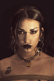 """Apostolis Lempesis photographer (φωτογράφος). Work by photographer Apostolis Lempesis demonstrating Portrait Photography in a photo-session with the model Keta X Arco.""""Kate III""""- Apostolis LempesisModel: Keta X ArcoShibari Artist: Angelika KnotPort"""