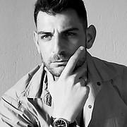Aris Papapostolou model (μοντέλο). Photoshoot of model Aris Papapostolou demonstrating Face Modeling.Face Modeling Photo #222080