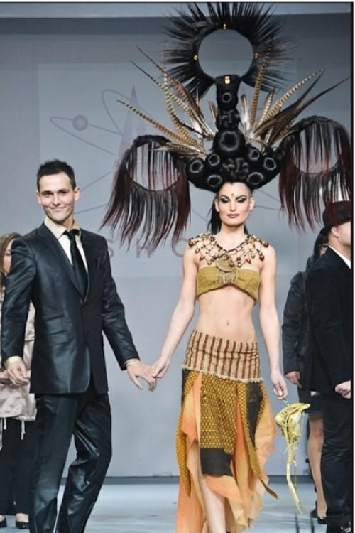 Arnaud Prevost hair stylist (coiffeur). Work by hair stylist Arnaud Prevost demonstrating Creative Hair Styling.Creative Hair Styling Photo #73281
