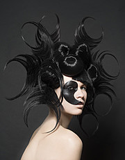 Arnaud Prevost hair stylist (coiffeur). Work by hair stylist Arnaud Prevost demonstrating Creative Hair Styling.Face PaintingCreative Hair Styling Photo #73424