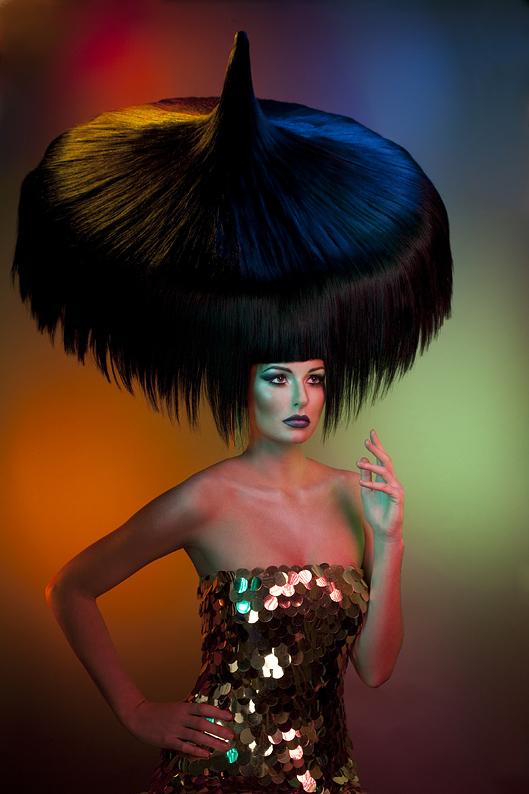 Arnaud Prevost hair stylist (coiffeur). Work by hair stylist Arnaud Prevost demonstrating Creative Hair Styling.Creative Hair Styling Photo #73429