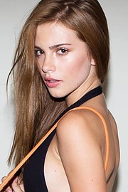 Ash Mathews makeup artist. Work by makeup artist Ash Mathews demonstrating Beauty Makeup in a photoshoot of Bridget Satterlee.model: Bridget SatterleeBeauty Makeup Photo #190604