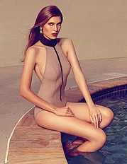 Ashleigh Kelly fashion stylist. Modeling work by model Sapphire De Goede.==Gold Coast Eye Magazine==Photographer, Freya ElizabethMakeup, Lara QuinnStyling, Ashleigh KellySwimwearFashion Styling Photo #68891