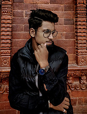 Asmit Bhat model & photographer. Photoshoot of model Asmit Bhat demonstrating Fashion Modeling.Fashion Modeling Photo #216789