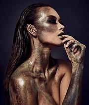 Astros Erla Benediktsdottir makeup artist (Ástrós Erla sminka). Work by makeup artist Astros Erla Benediktsdottir demonstrating Creative Makeup in a photoshoot by George Read with the model Jennifer Berg.photographer: George Readmodel: Jennifer Ber