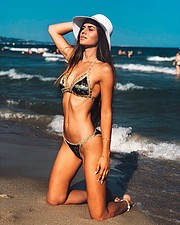 Athanasia Zachopoulou model (μοντέλο). Photoshoot of model Athanasia Zachopoulou demonstrating Body Modeling.Body Modeling Photo #221747